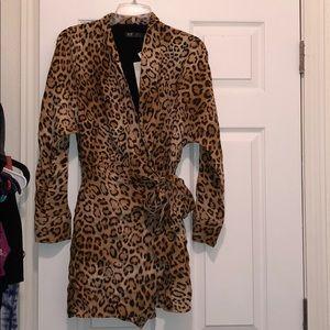ZARA leopard skort wrap